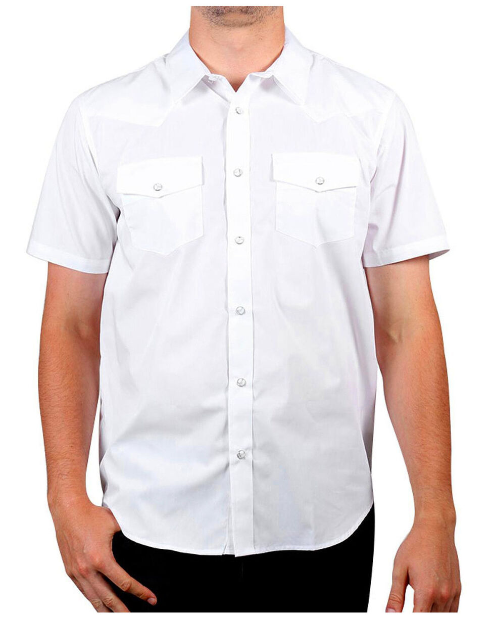Gibson Men's White Water Short Sleeve Shirt - Tall, White, hi-res