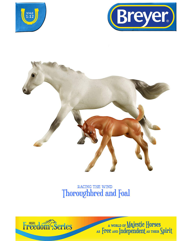 Breyer Racing The Wind Horse & Foal, No Color, hi-res