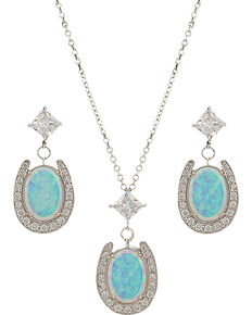 Montana Silversmiths Luck in the Evening Sky Jewelry Set, Silver, hi-res