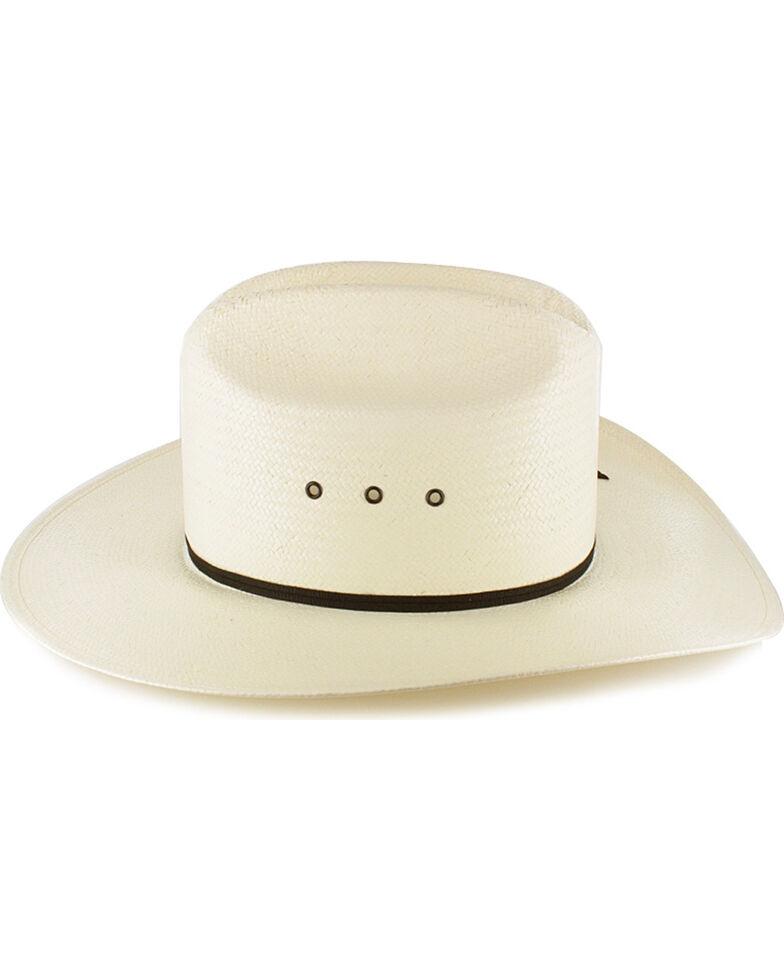 Resistol Kid's Elastic Fit Straw Cowboy Hat, Natural, hi-res