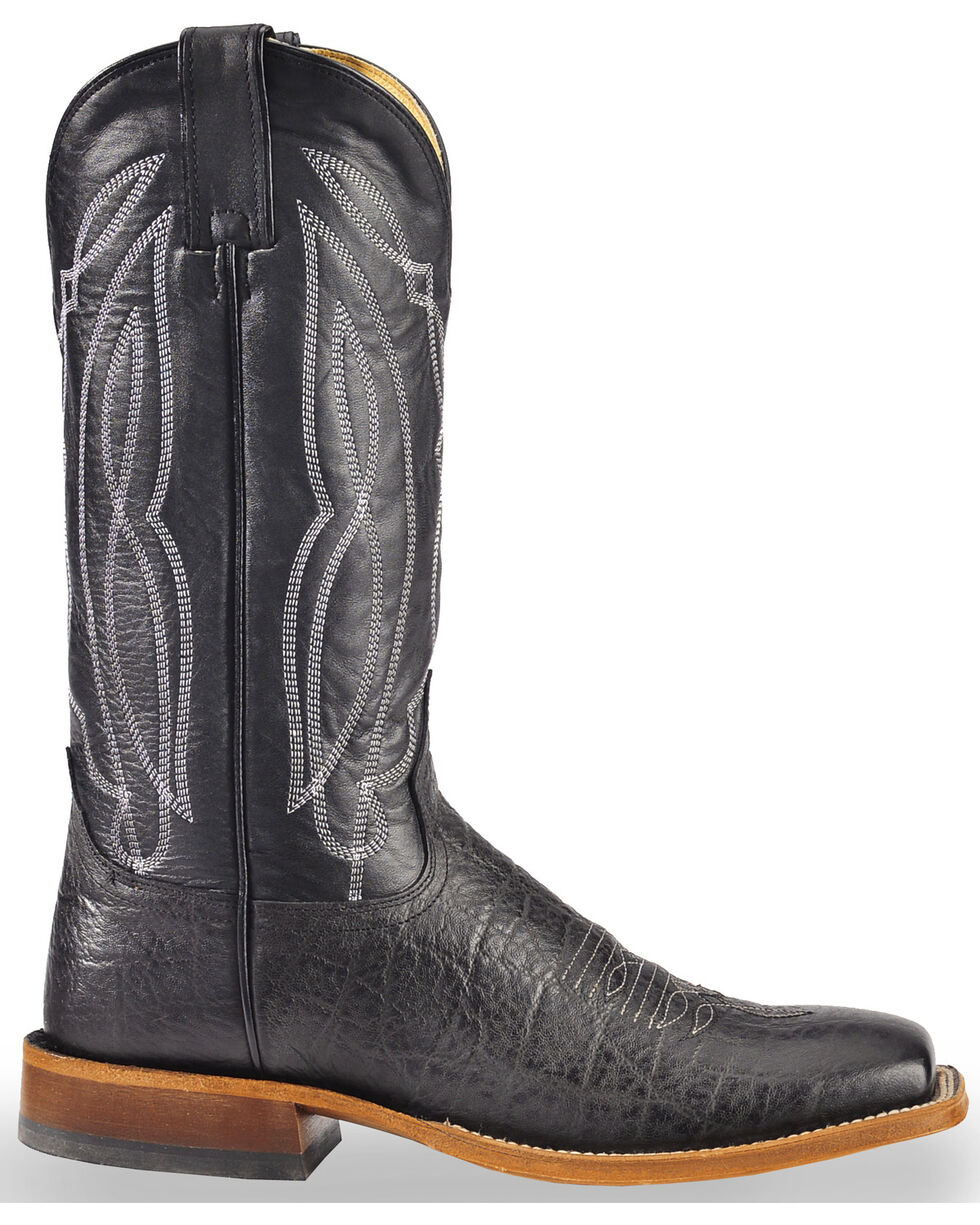 Tony Lama Men's Square Toe Western Boots, Black, hi-res