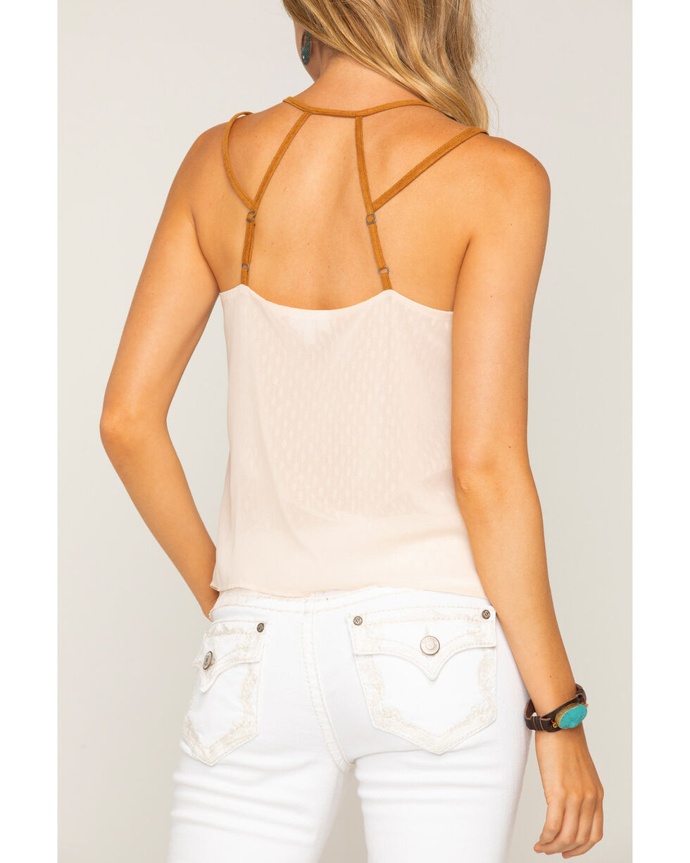 Shyanne Women's Layered Lace Strappy Tank Top , Ivory, hi-res
