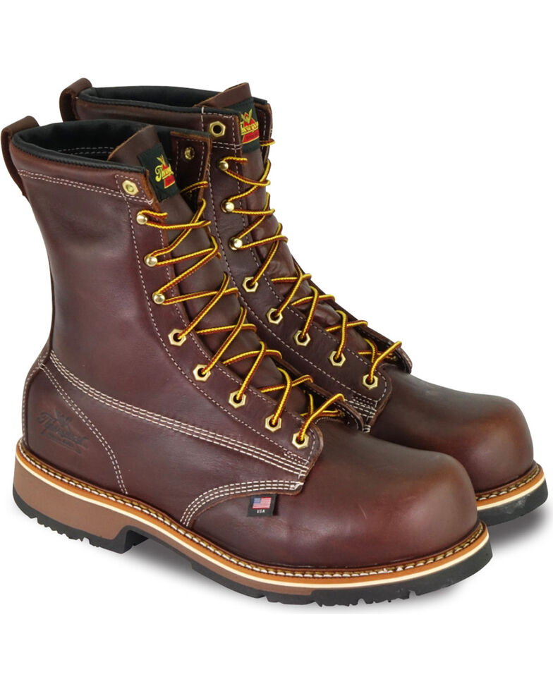 "Thorogood Men's 8"" American Heritage Emperor Toe Work Boots - Composite Toe, Brown, hi-res"