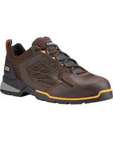 Ariat Men's Chocolate Rebar Flex Work Shoes - Composite Toe , Chocolate, hi-res