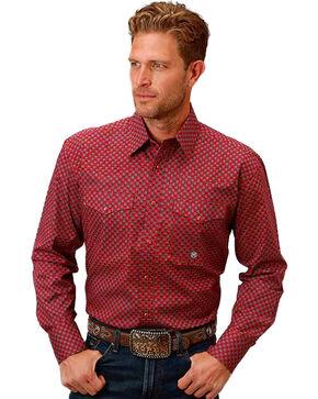 Roper Men's Red Vintage Foulard Print Shirt , Red, hi-res