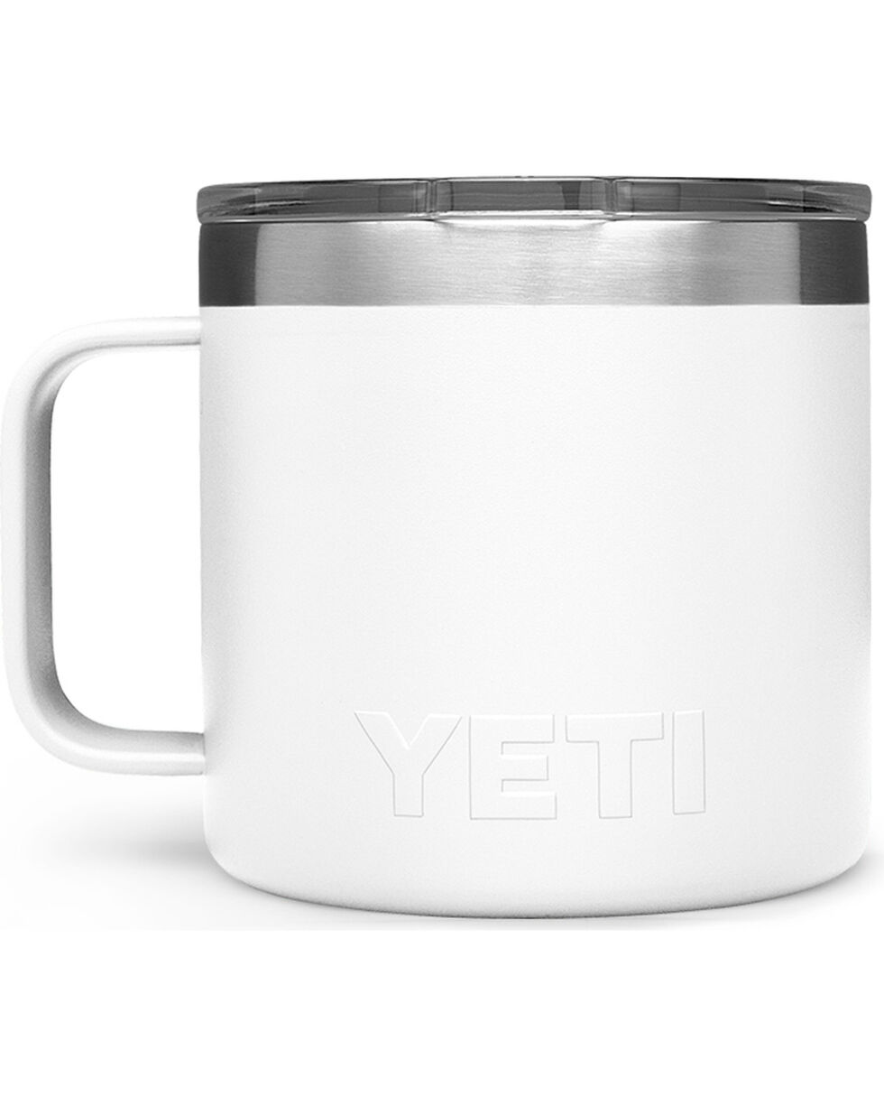 Yeti White 14oz. Rambler Mug , White, hi-res