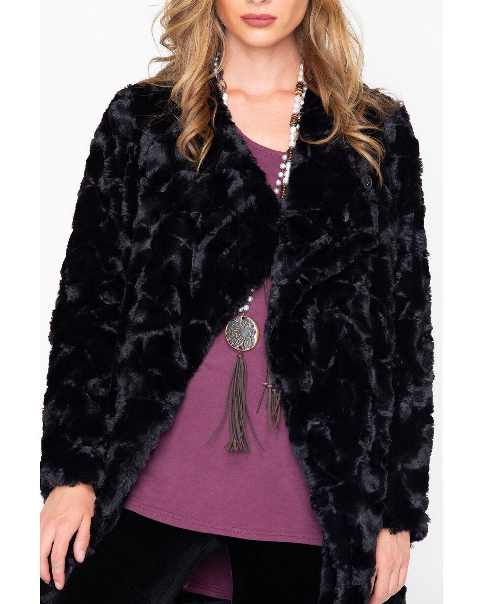 BB Dakota Women's Faux Fur Jacket, Black, hi-res
