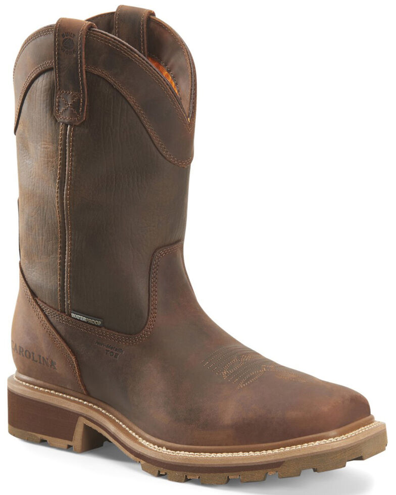 Carolina Men's Girder Western Work Boots - Composite Toe, Brown, hi-res