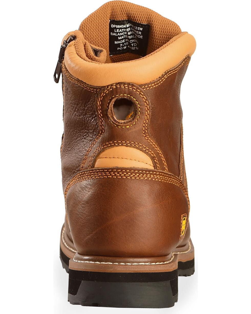 """Dan Post Men's Gripper Zipper 6"""" Lace Up Work Boots, Brown, hi-res"""