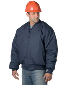 Snap'N'Wear Men's Navy Tanker Domestic Work Jacket - Tall, Navy, hi-res