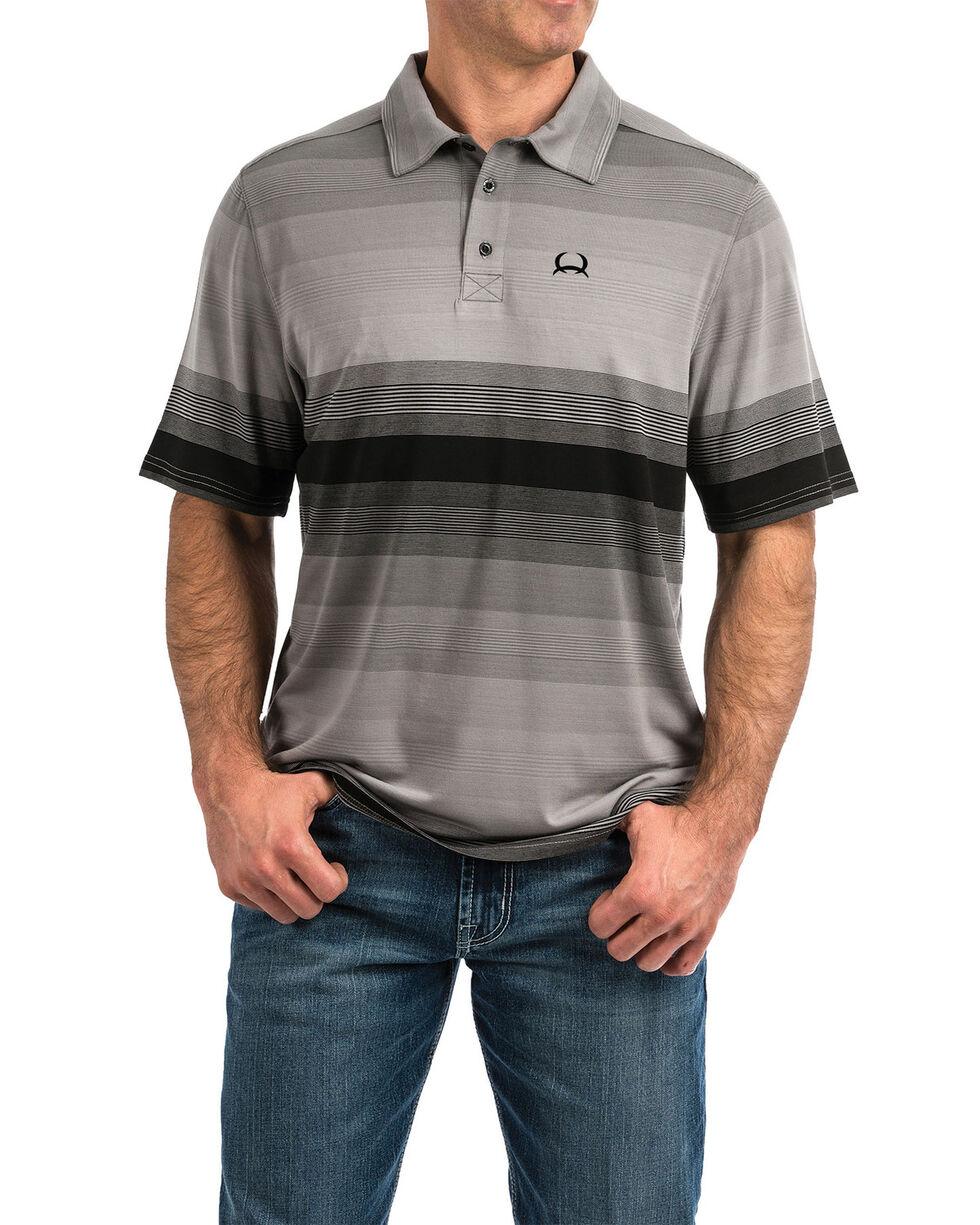 Cinch Men's Arena Flex Multi Striped Button Short Sleeve Polo Shirt , Multi, hi-res