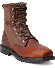 "Ariat Men's RigTek 8"" Wide Square Toe CT Work Boots, Brown, hi-res"