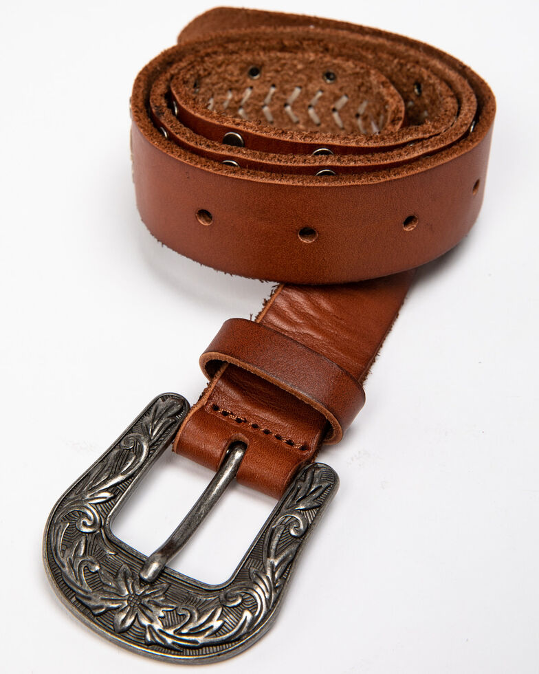 Shyanne Women's Here On The Dot Western Belt , Brown, hi-res