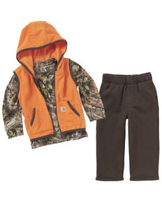 Carharrt Kids Infant Boys' Camo 3-Piece Gift Set , Brown, hi-res
