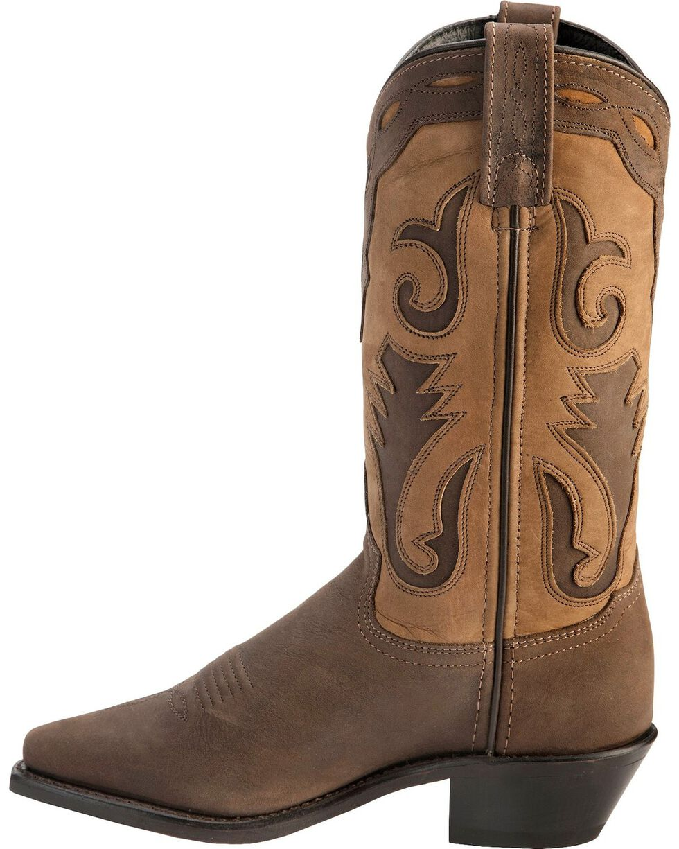 Sage Boots by Abilene Women's 2-Tone Cutout Western Boots, Distressed, hi-res
