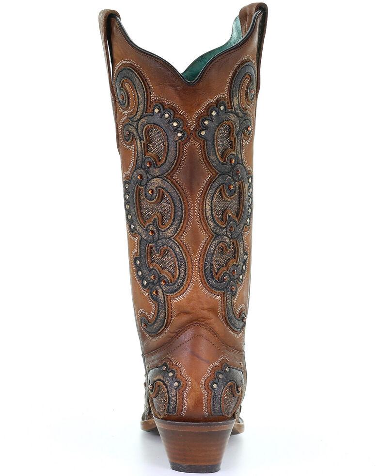 Corral Women's Honey Overlay Western Boots - Snip Toe, Brown, hi-res