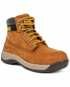 DeWalt Women's Apprentice Lace-Up Work Boots - Steel Toe, Suntan, hi-res