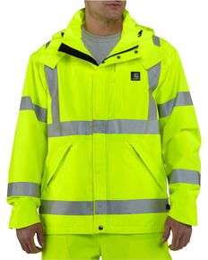 Carhartt High-Visibility Class 3 Waterproof Jacket - Big & Tall, Lime, hi-res