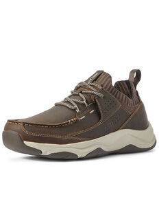Ariat Men's Brown Country Mile Hiker Boots - Moc Toe, Brown, hi-res