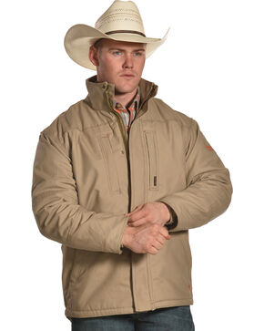 Ariat Men's FR Lined Workhorse Jacket - Tall, Beige/khaki, hi-res