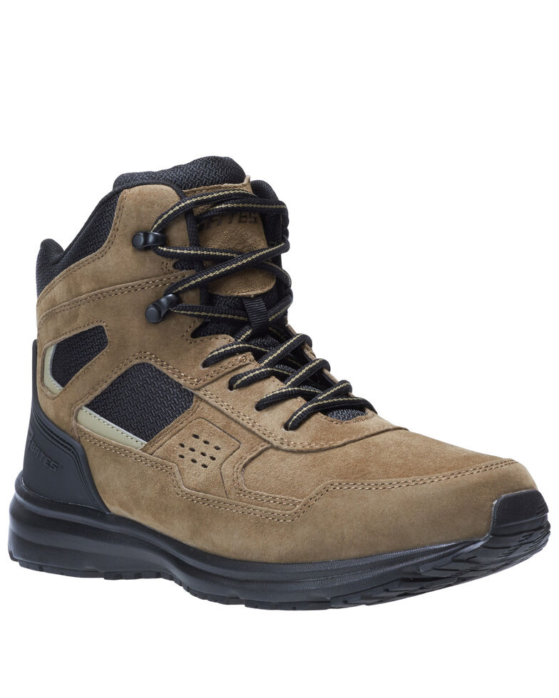 Bates Men's Mid Raide Work Boots - Soft Toe, Dark Brown, hi-res