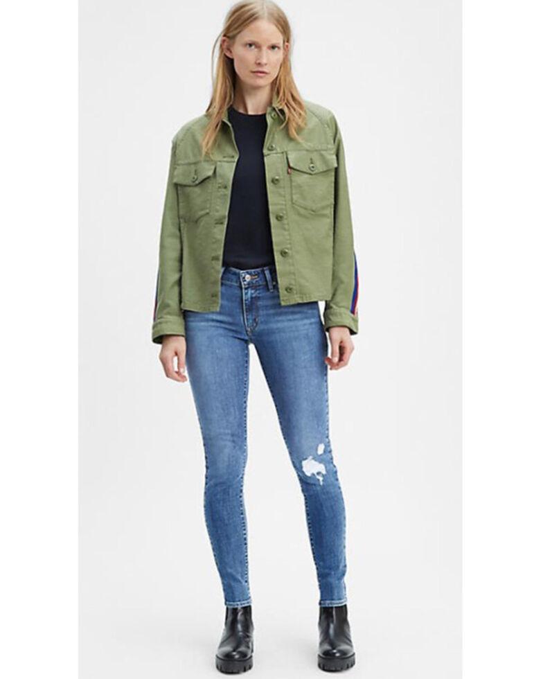 Levi's Women's 721 Lapis Blue Skinny Jeans, Blue, hi-res