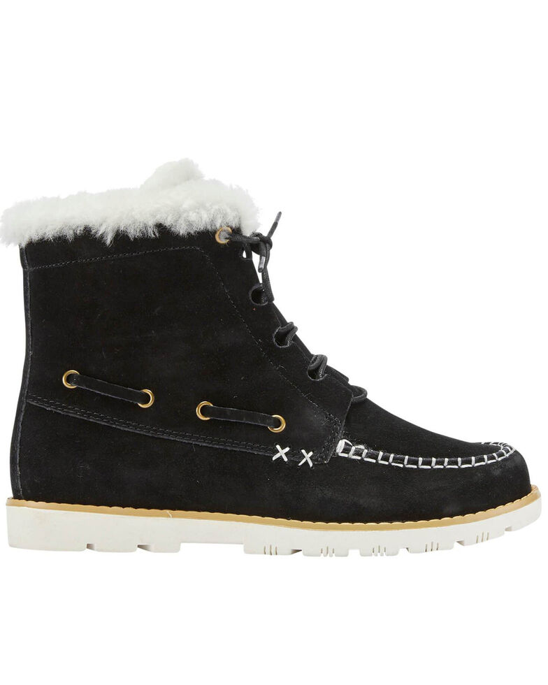 Lamo Footwear Women's Black Meru Winter Boots - Moc Toe, Black, hi-res