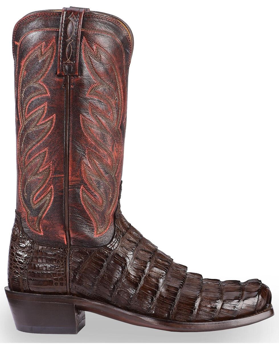 Lucchese Men's Exotic Hornback Caiman Landon Boots, Barrel Brn, hi-res