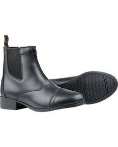 Dublin Kids' Foundation Zip Paddock Boots, Black, hi-res
