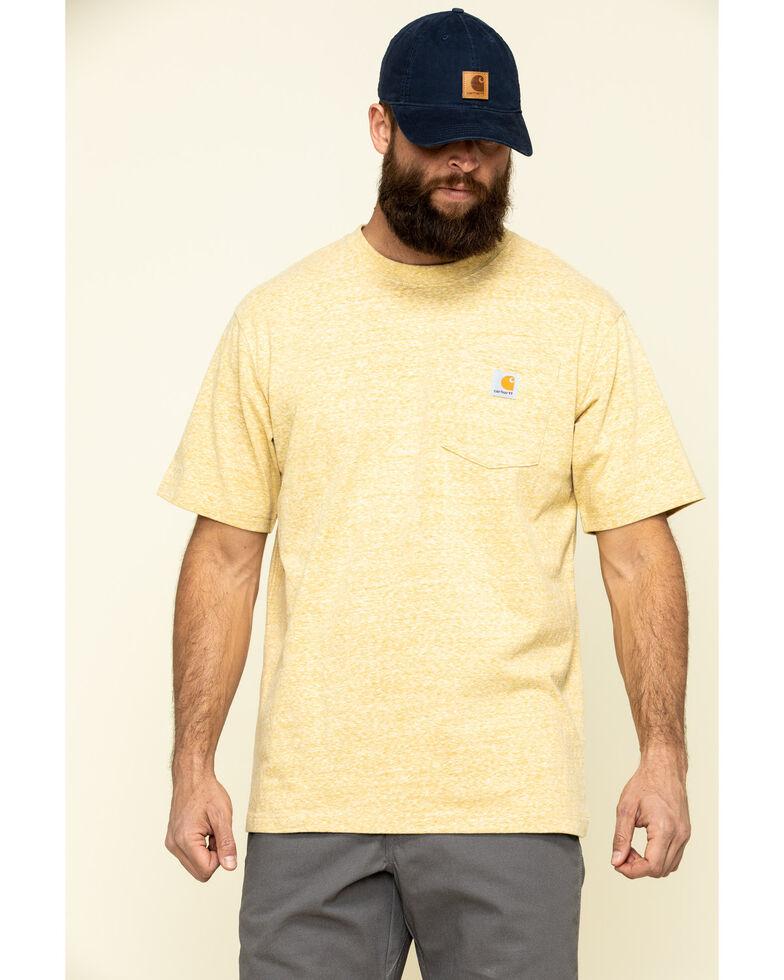 Carhartt Men's Gold Workwear Pocket Short Sleeve Work T-Shirt, Gold, hi-res