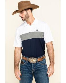 Cinch Men's Arena Flex Color Blocked Short Sleeve Polo Shirt , Multi, hi-res