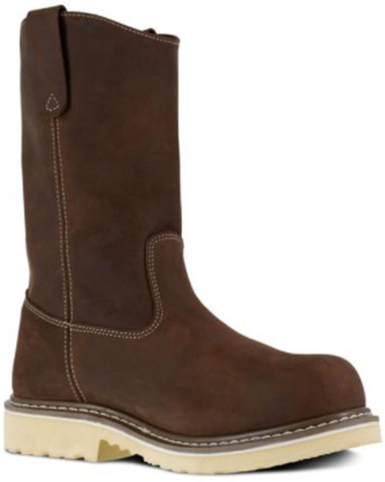 Iron Age Men's Solidifier Western Work Boots - Composite Toe, Brown, hi-res
