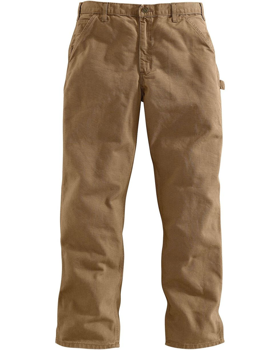 Carhartt Desert Washed Duck Dungaree Work Pants - Big & Tall, Desert, hi-res