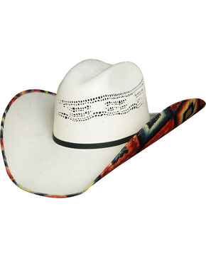 Bullhide Women's Wild Thoughts 2 Bangora Straw Cowgirl Hat, Natural, hi-res
