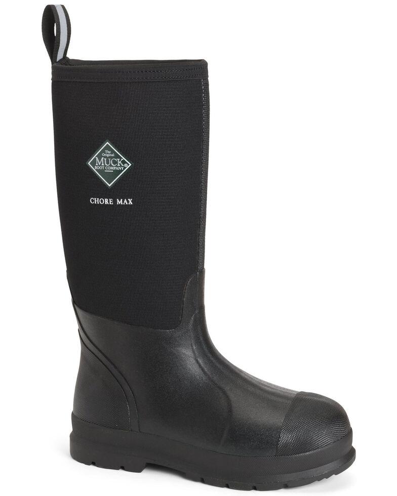 Muck Boots Men's Chore Max Rubber Boots - Round Toe, Black, hi-res