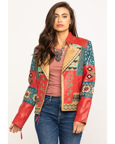 Double D Ranchwear Women's Dark Roughneck Red Blowout Jacket, Red, hi-res