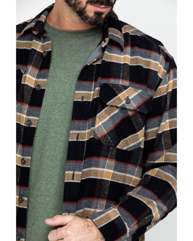 Pendleton Men's Soft Burnside Large Black Plaid Long Sleeve Flannel Shirt , Black, hi-res