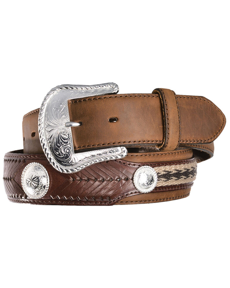 Tony Lama Men's Duke Leather Belt, Aged Bark, hi-res