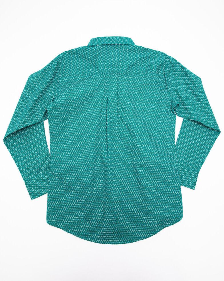 Wrangler Boys' Assorted Multi Geo Print Long Sleeve Western Shirt , , hi-res