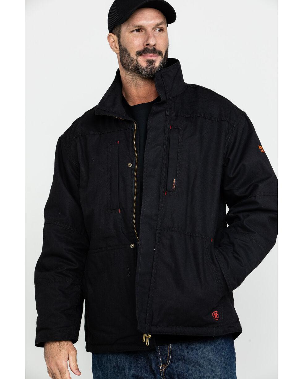 Ariat Men's Black FR Workhorse Jacket, Black, hi-res