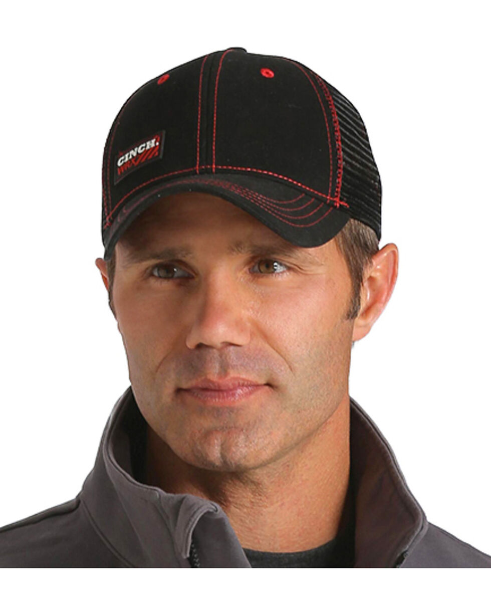 Cinch Men's WRX Black Workwear Cap, Black, hi-res