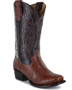 Moonshine Spirit® Men's Louisiana Lizard Exotic Boot, Brown, hi-res