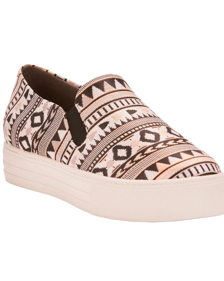 Ariat Women's Unbridled Harlan Tribal Print Slip On Shoes - Round Toe, Black, hi-res