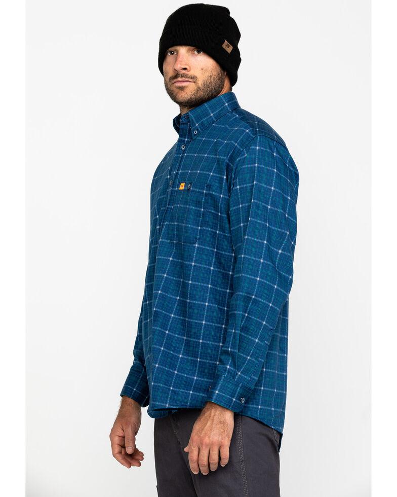 Wrangler 20X Men's Flame Resistant Long Sleeve Work Shirt, Blue, hi-res