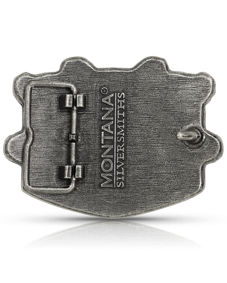 Montana Silversmiths Men's Seizing Freedom Belt Buckle, Multi, hi-res