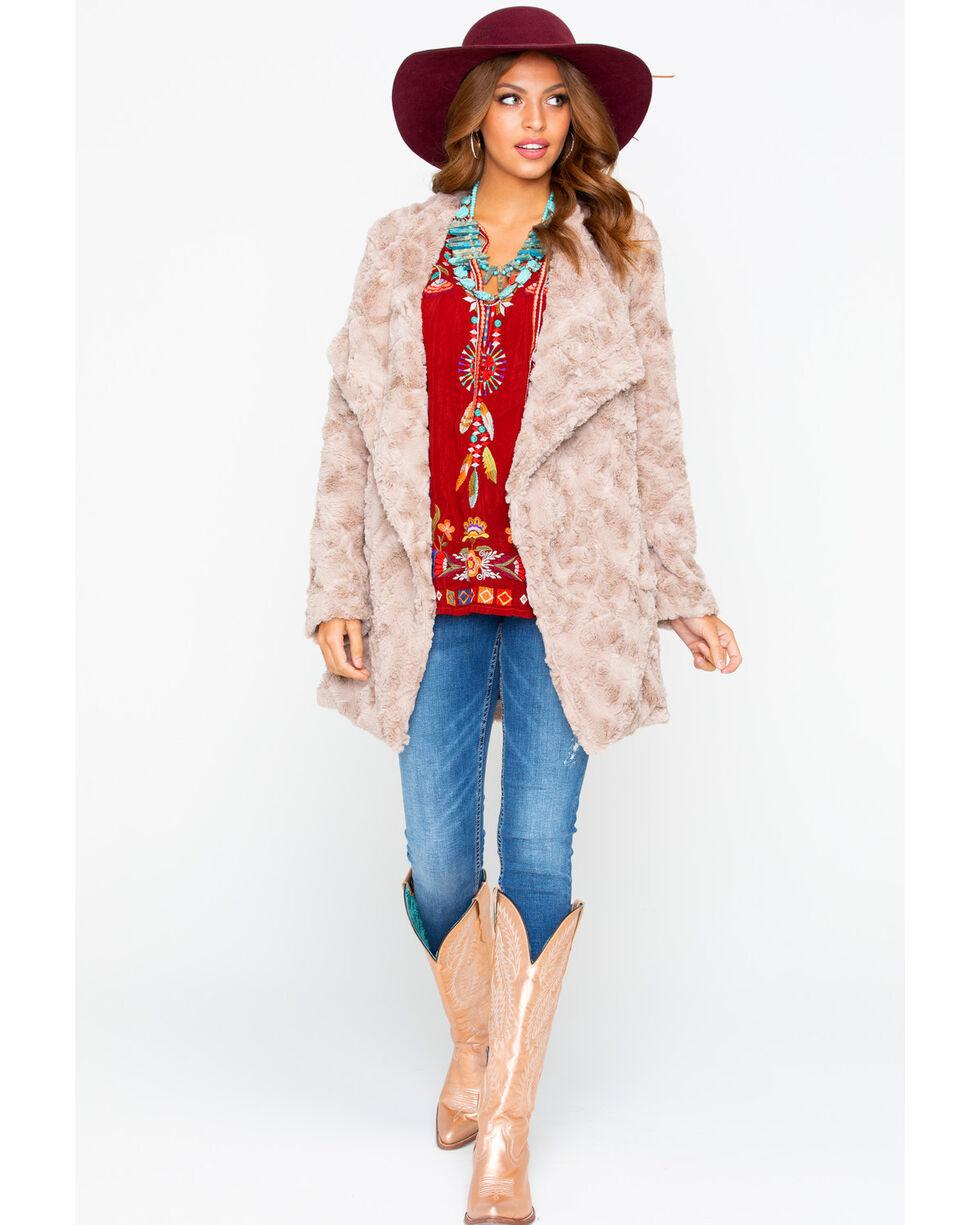 BB Dakota Women's Faux Fur Jacket, Tan, hi-res