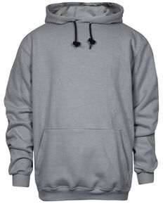 National Safety Apparel Men's Grey FR Heavyweight Hooded Work Sweatshirt - Tall, Grey, hi-res