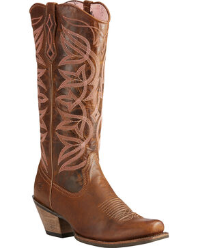 Ariat Women's Brown Sheridan Sassy Western Boots - Square Toe , Brown, hi-res