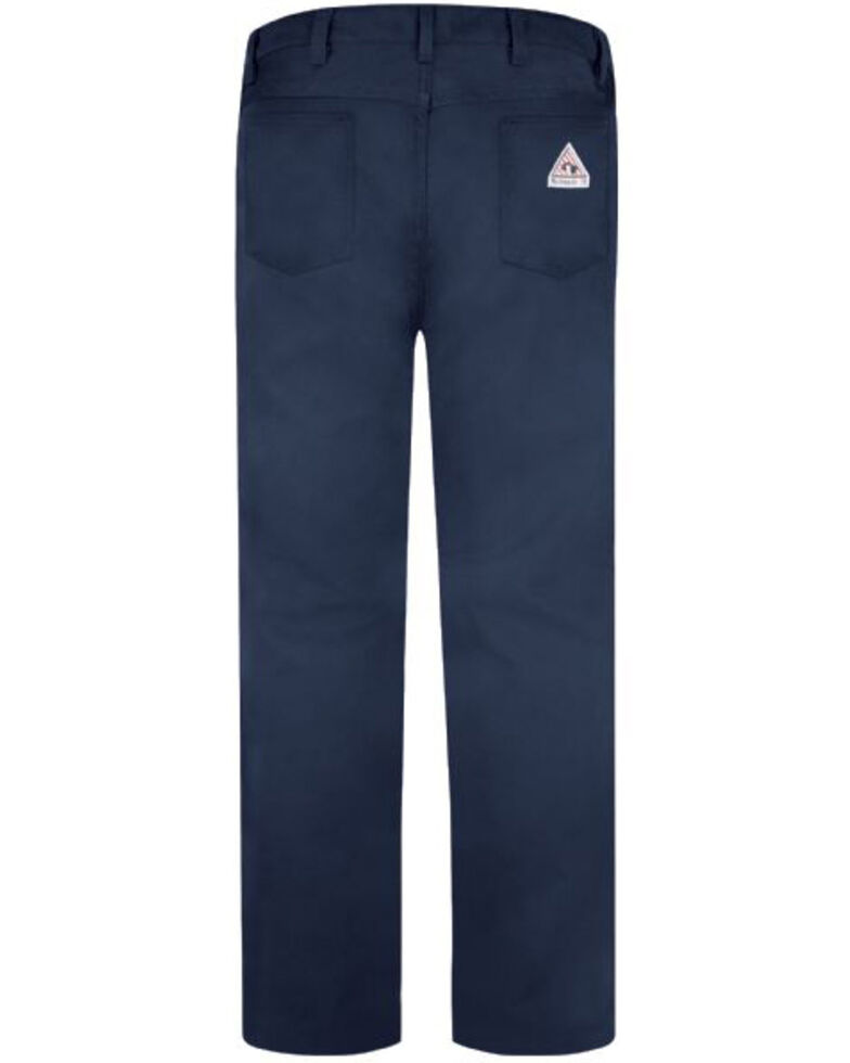 Red Kap Men's Navy Excel FR Jean-Style Work Pants , Navy, hi-res
