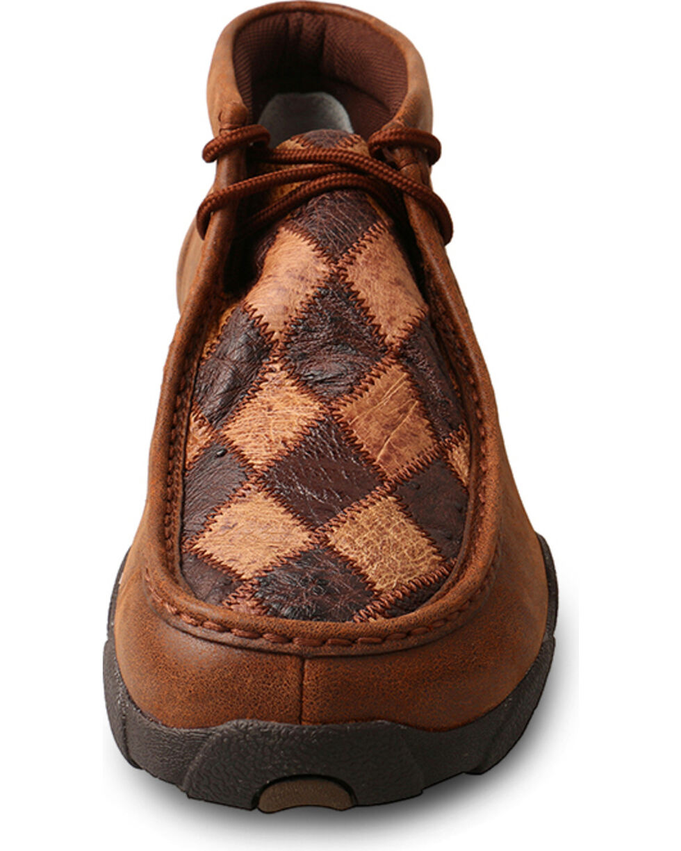Twisted X Men's Diamond Driving Moccasin Shoes , Brown, hi-res